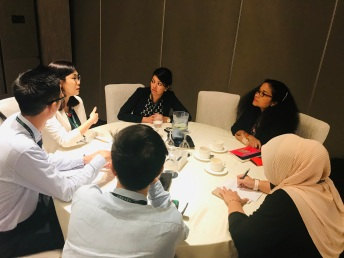 Nadia hosting roundtable discussion on workplace harassment